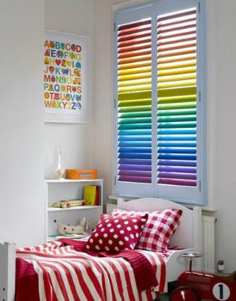 Интерьер цвета радуги