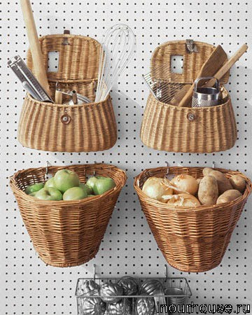 Идея 1 плетеные корзинки для кухни