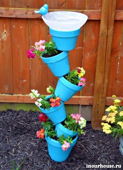 Цветочные горшки для сада