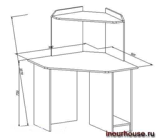 Эскизы компьютерных столов чертежи
