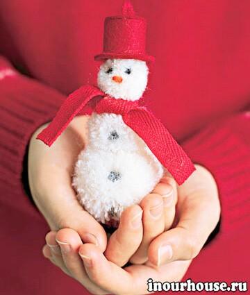 Новогодние украшения своими руками