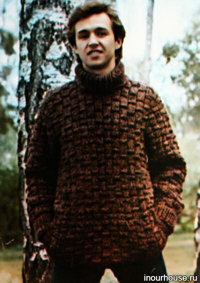 схемы вязания мужских свитеров спицами.