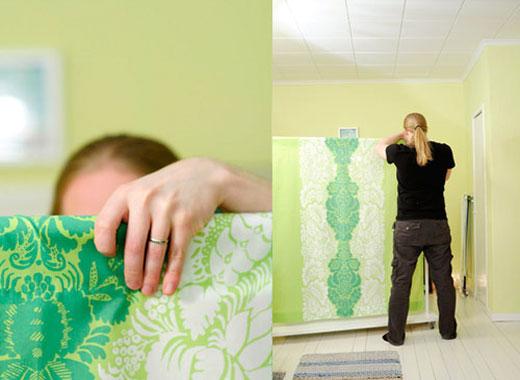 Как сделать перегородку в комнате из ткани