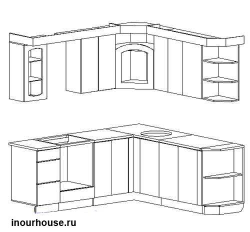 Кухни чертежи кухни кухни фото