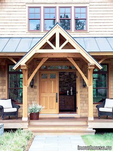 Оформление входной двери дома