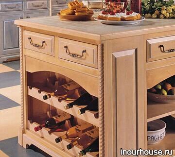 Встроенные кухонные шкафы