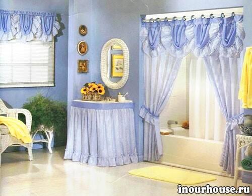 Необычные занавески для ванной, для душа